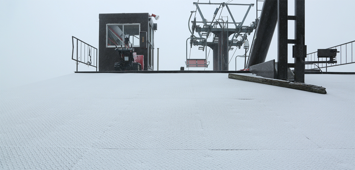 The slopes are getting white