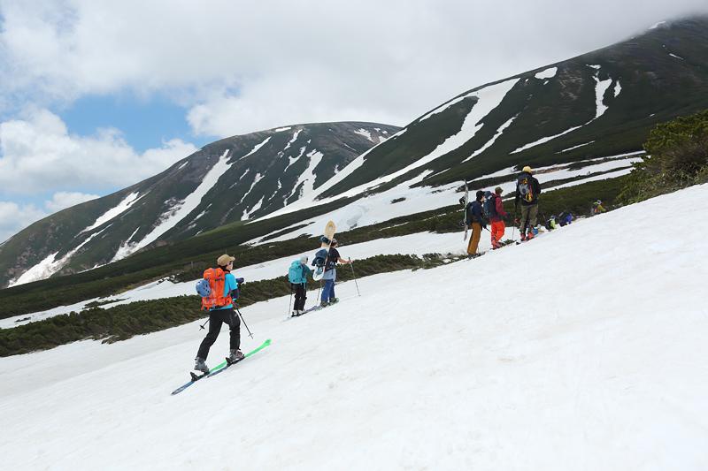 乗鞍岳への登山道