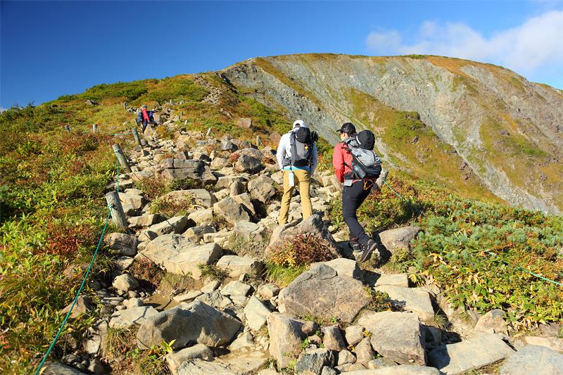 八方尾根自然研究路_登山道コース